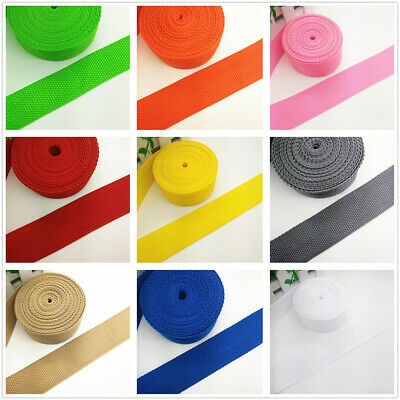 New Hot 2/5/10/50Yards 1inch (25mm) Width Strap Nylon Webbing Strapping 22 Color