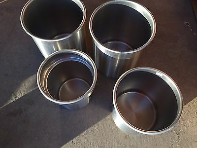 (4) Stainless Steel Pots Vollrath 78780, 78760, Syscoware 401771118-8 Stainless