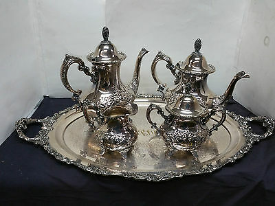Large And Ornate Tea Set With Tray
