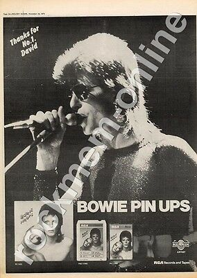 David Bowie Pin Ups RS 1003 MM3 LP advert 1973