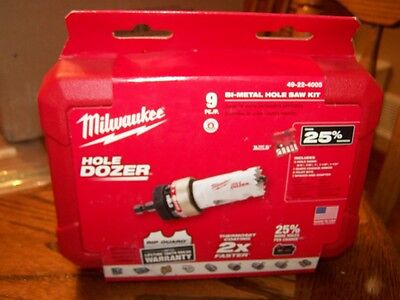Milwaukee 49-22-4005 9 pc. Ice Hardened Hole Saw KIt