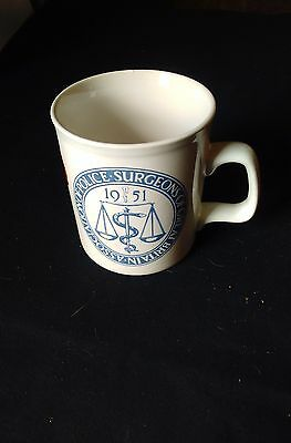 Association of Police Surgeons of Great Britain. mug 1951-1976. 9.5cm