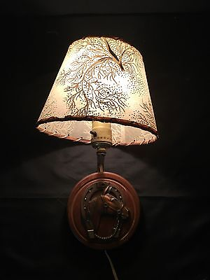 Vintage Lamp, Horse/Shoe Lamp, BEAUTIFUL , Wall Light W Shade, Lucky
