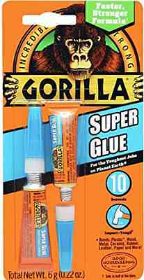 2x3g Gorilla Super Glue Free Shipping High Strength And Quick Set Time