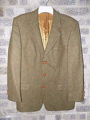 Mens Vintage rainbow green tweed jacket by Racing Green 40""