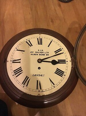 "10"" 8 Day Fusee Dial Clock in Restored Order."