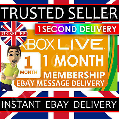 1 Month Xbox Live Gold Membership - Instant Ebay Delivery(*read Description*)