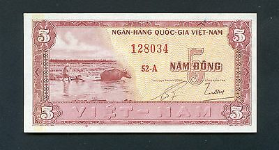 SOUTH VIETNAM 5 Dong N/D (1955) P-13 UNC uncirculated banknote