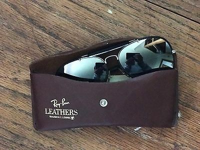 Ray Ban Aviator Leathers Black And Mirror