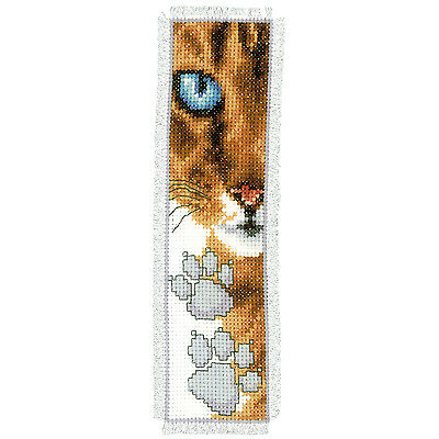 Cat Footprint  : Vervaco Counted Cross Stitch Kit : Bookmark -  PN0143913