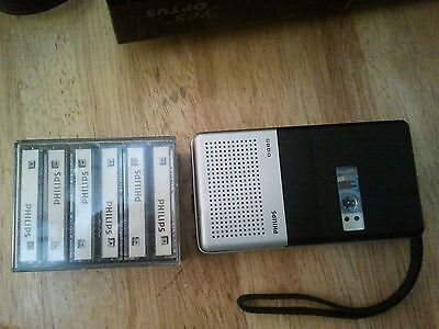 PHILLIPS  MINI CASSETTE RECORDER 0085 , LFH 0002 /15min  with 7 tapes
