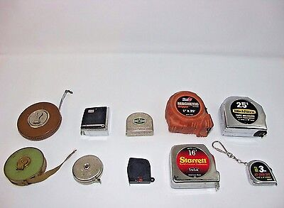 Vintage And Modern Tape Measures Lot of 10