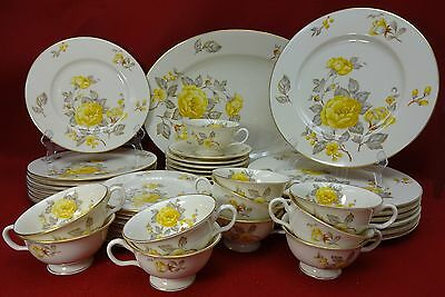CASTLETON china MAYFAIR pattern 48-pc SET SERVICE for EIGHT (8)