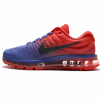 Nike Air Max 2017 Blue Red Black Men Running Shoes Sneakers Trainers 849559-402