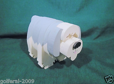 Unique Primitive Tramp Wood Art Old English Sheep Dog Figurine