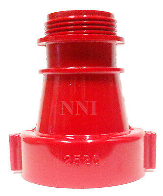 """2-1/2"""" F  x 1-1/2"""" M NST/NH  Fire Hose, Hydrant Concentric Reducer Adapter"""