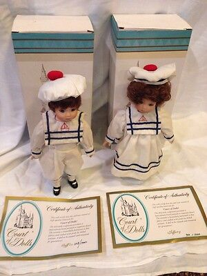 Vintage Court Of Dolls Porcelain Dolls Set Of 2 Muffin And Tiffany