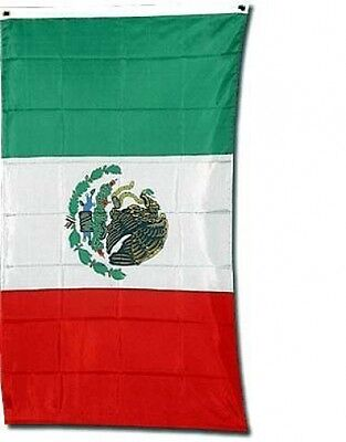 Flags Unlimited Mexican Flag Banner 3 X 5