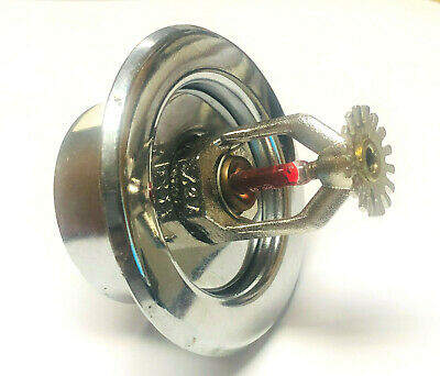 """155*F 1/2"""" Chrome Pendent FIre Sprinkler with Recessed Escutcheon VIKING VK102"""