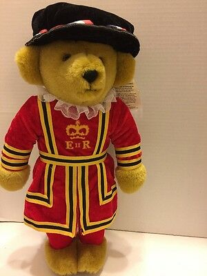 "MerryThought Royal Beefeater Guard  18"" Plush Bear Hand Made In England Stuffed"