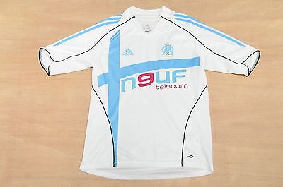Olympique Marseille Home 2005-06 - Size M - Adidas Football Shirt, Soccer Jersey