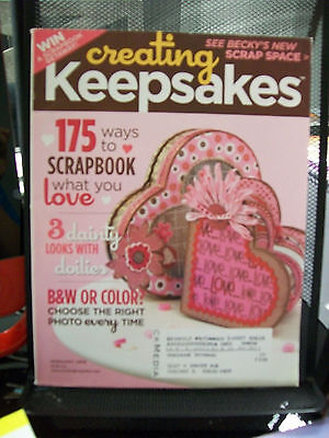 Creating Keepsakes February 2008 Magazine Scrapbooking 175 Ideas Doilies Hearts