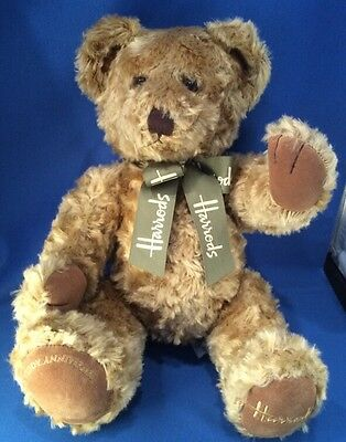 HARRODS KNIGHTSBRIDGE Plush Fully Jointed 100 Yrs Teddy Anniversary 17""