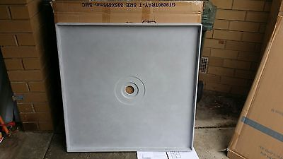 BATHROOM SHOWER TILE TRAY APPROX 1200 by 900 CENTRE WASTE