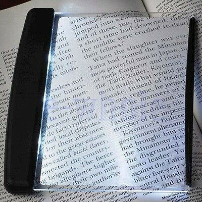 Magic Night Vision LED Light Wedge Flat Panel Book Reading Lamp Paperback DT