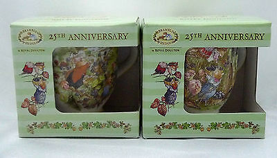 Royal Doulton  Brambly Hedge  25th Anniversary Lord & Lady Woodmouse Beakers