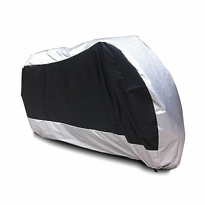 XL Outdoor Waterproof Motorcycle Motorbike Cruiser Scooter Cover Sliver Black AU