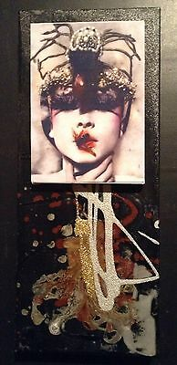 Mixed Media Collage Assemblage Art Altered Art Vintage Canvas
