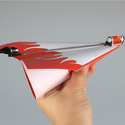 Novelty Kids Power Up Electric Paper Plane Airplane Kit Educational Toy