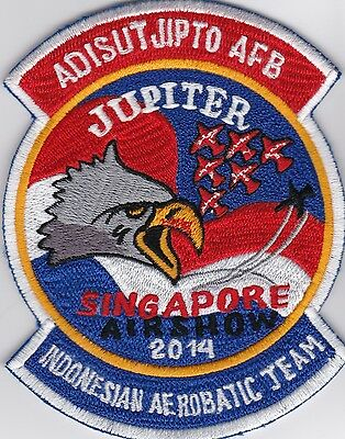 XXL Patch Aufnäher Jupiter Aerobatic Team, Indonesian Air Force, selten, rare!