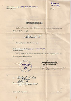 WW2 stamp GERMAN DOCUMENT 1936 certificate