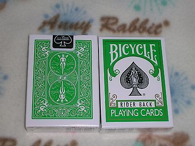 1 deck Bicycle 808 GREEN Rider Back Playing Cards S103130