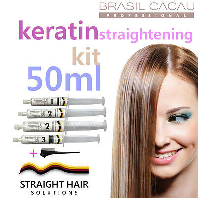 Keratin Hair Straightening Treatment - DIY to Fight the Frizz! 50ml Kit w/ comb