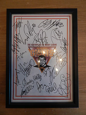 huddersfield giants signed rugby league 2016 squad sheet framed