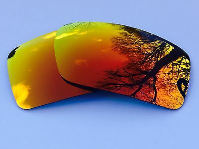 Engraved Polarized Fire Red Revo Mirrored Replacement Oakley Gascan Lenses