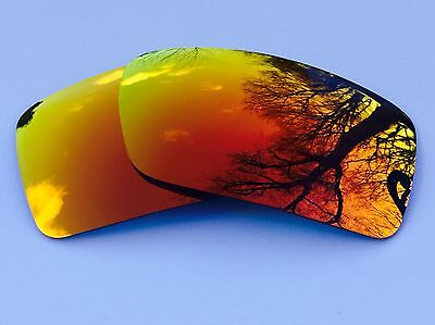 New Engraved Polarized Fire Red Revo Mirrored Replacement Oakley Gascan Lenses