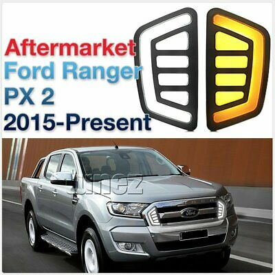 LED Daytime Running Light DRL Drive Lamps Day Ford Ranger T6 MK 2 2016 2017 2018