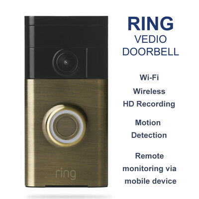 Ring Video Doorbell WiFi Wireless mobile access video recording night vision Bro