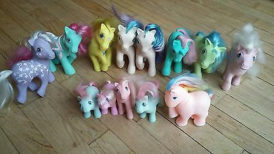 Gros lot 12 MLP mon petit poney my little pony G1 Hong Kong Italy Spain China 80