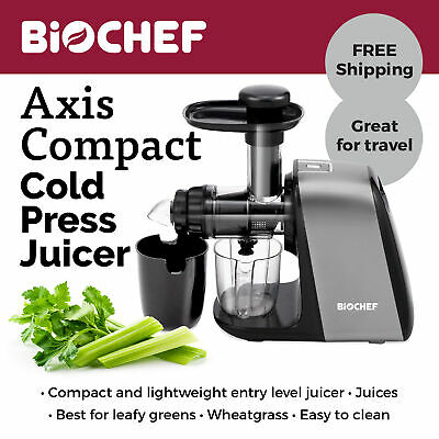 NEW BioChef Axis Compact: Ultimate Leafy Greens & Wheatgrass Juicer - Silver