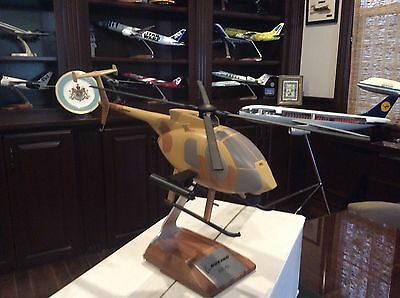 New Pacmin Models Helicopter Boeing Ah-61 Little Bird Usa 1/30 Scale Display