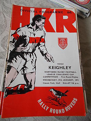 Hull Kingston Rovers v Keighley programme 27.1.71 Challenge Cup