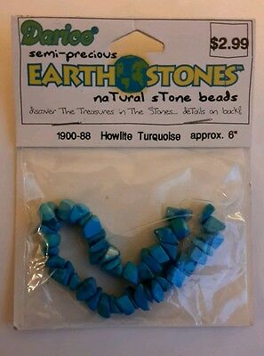 "Bnip Howlite Turquoise Blue Chips Beads Gemstone Approx 6"" Strand"
