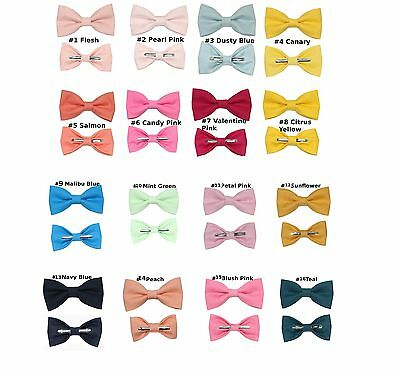 (1) Toddler or Boys Kids Clip On Cotton Bow Tie ~ Choose 1 Bowtie ~ 3T 4T 5T