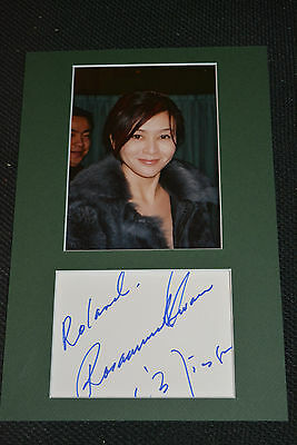 ROSAMUND KWAN signed Orig Autogramm 20x30 Passepartout ONCE UPON A TIME IN CHINA