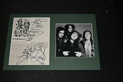 SLADE signed Autogramm In Person 20x30 Passepartout kompl Band NODDY ,DAVE , JIM